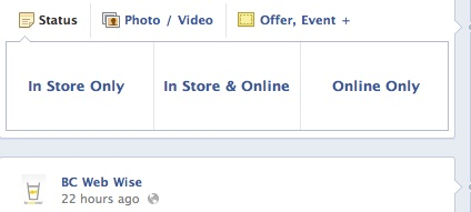Options for Facebook Offers Posting